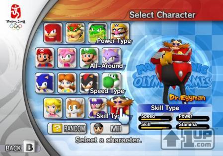 Escolha os personagens da Sega e da Nintendo e participe de Beijing 2008