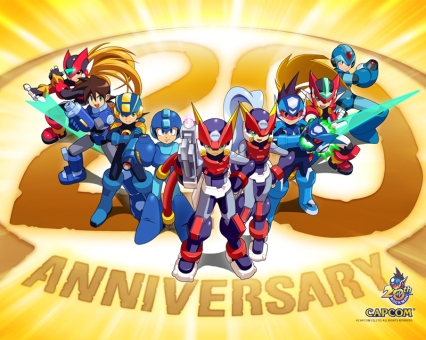 Mega Man 20 anos Wallpaper Oficial