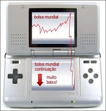Você brincará de investidor falido no DS. Ainda bem que o dinheiro será de mentirinha...
