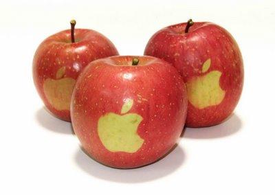 Ai está! Maças com logo da Apple!