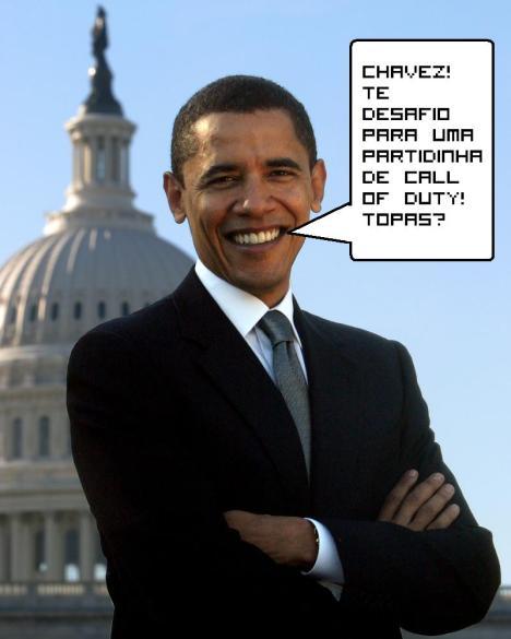 Obama busca parceiros para jogar Wii na rede online...