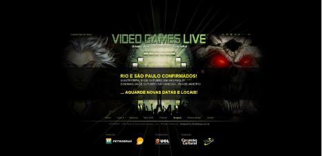 Site brasileiro do VGL confirma as datas do evento no Rio e em SP. Apenas a cidade de pedra não tem o lugar confirmado.