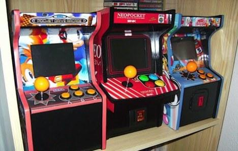Isso que é um Arcade portátil!
