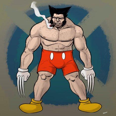 Wolverine usando o figurino Disney