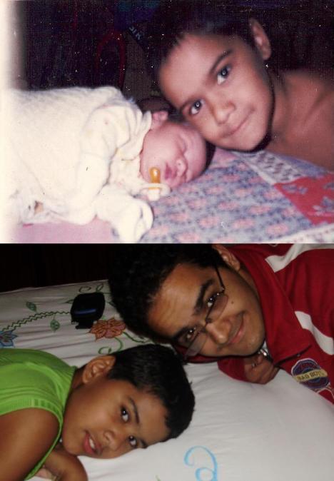 Meu irmão Wendell e eu, antes (1999) e depois (atualmente)